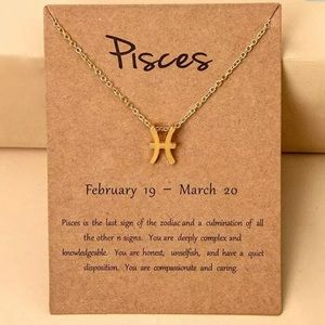 🎉 New Pisces Zodiac Gold Plated Necklace